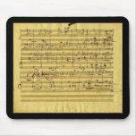 """Las """"Mesías"""" de Handel en la mano de Beethoven Alfombrilla De Ratón"""
