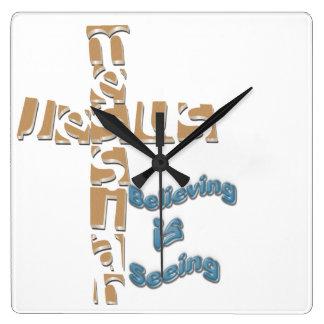 Las Mesías de Jesús que creen están viendo el relo Reloj Cuadrado