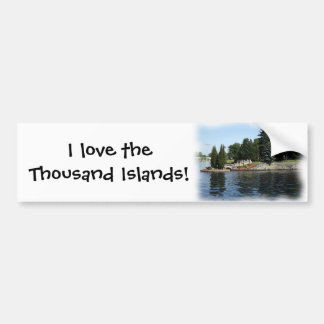 Las mil islas #1 etiqueta de parachoque