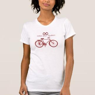 Las millas del infinito por galón Bike T-S… Remeras