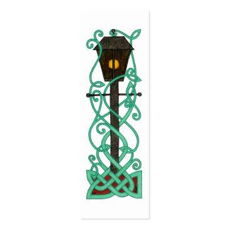 Las mini-señales del Lamppost Tarjetas De Visita Mini