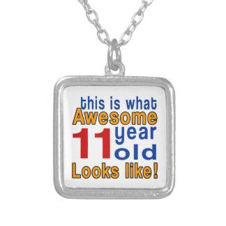 las miradas 11 años tienen gusto colgante cuadrado