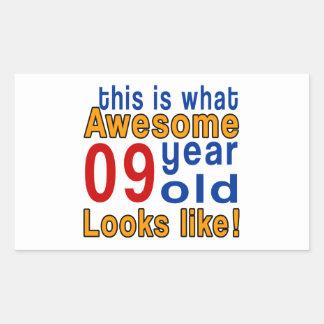 las miradas 9 años tienen gusto pegatina rectangular
