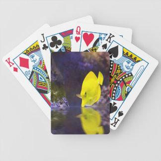 Las miradas amarillas de los pescados del cirujano baraja cartas de poker