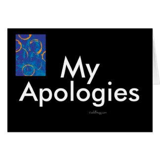 Las mis disculpas Notecard de los hombres Tarjeta Pequeña
