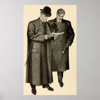 Las modas 1905 de los caballeros póster