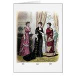 Las modas de Godey, tarjeta de felicitación