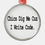 las modas me cavan que el cuz escribe código ornaments para arbol de navidad