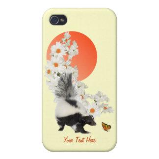¡Las mofetas necesitan hora de oler las flores tam iPhone 4 Carcasas