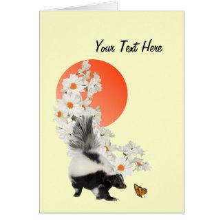 ¡Las mofetas necesitan hora de oler las flores tam Felicitacion