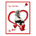 Las mofetas - tenga día de San Valentín Postal