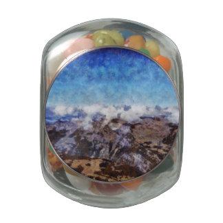 Las montañas de gastos indirectos frascos de cristal jelly belly
