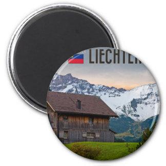 Las montañas de Liechtenstein Imán Redondo 5 Cm