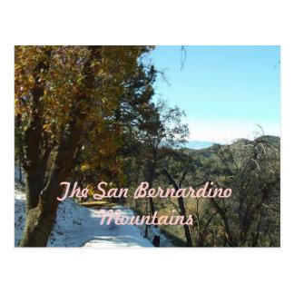 Las montañas de San Bernardino Tarjetas Postales