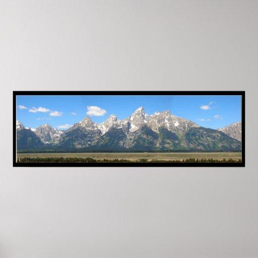Las montañas de Teton Poster