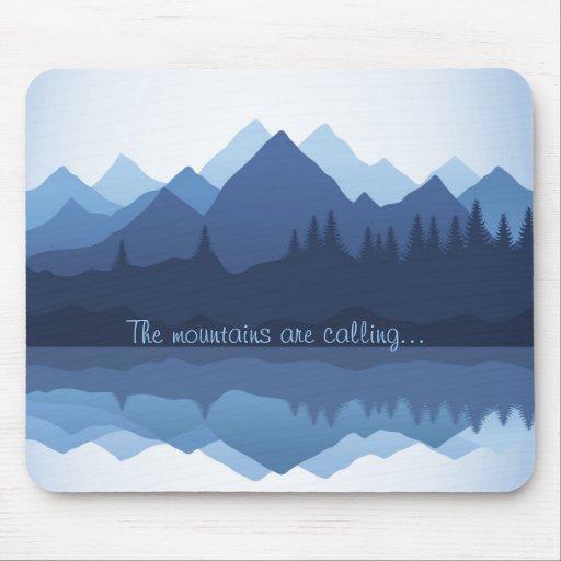 Las montañas están llamando el diseño Mousepad