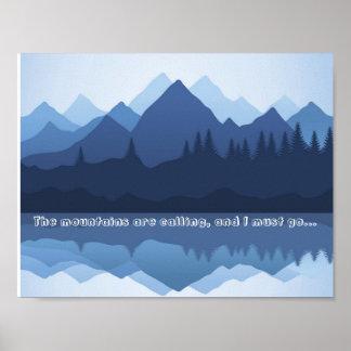 Las montañas están llamando el poster