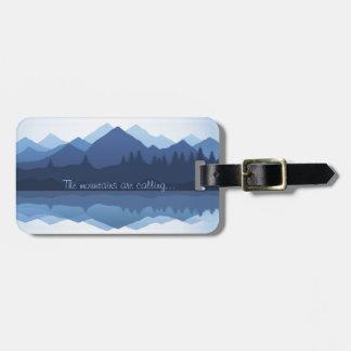 Las montañas están llamando etiquetas del equipaje etiquetas bolsas