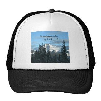Las montañas están llamando… gorras