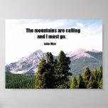 Las montañas están llamando… impresiones