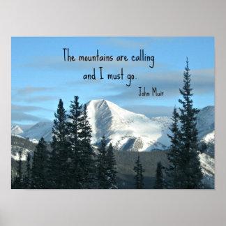 Las montañas están llamando… posters