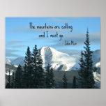 Las montañas están llamando… póster