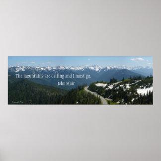 Las montañas están llamando póster