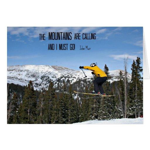 Las montañas están llamando… tarjeta de felicitación