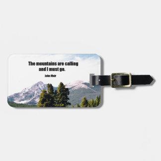 Las montañas están llamando y debo ir etiquetas para maletas