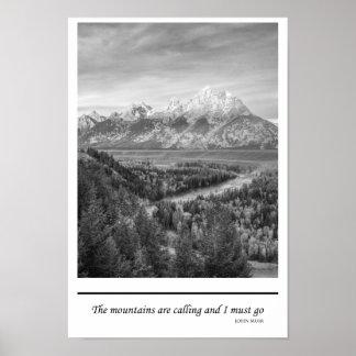 Las montañas están llamando y debo ir/Muir Posters