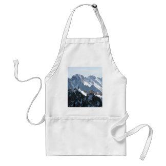 ¡Las montañas - magníficas! Delantal
