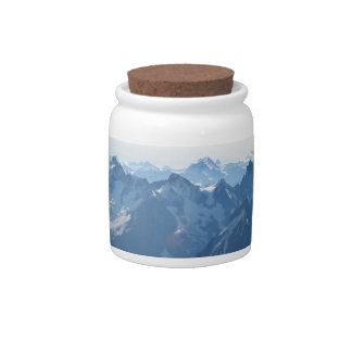 ¡Las montañas - magníficas! Jarra Para Caramelo