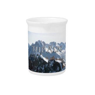 ¡Las montañas - magníficas! Jarras