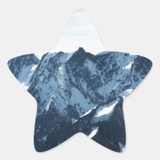 ¡Las montañas - magníficas! Pegatina Forma De Estrella Personalizadas