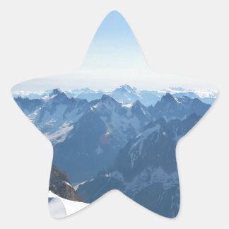 ¡Las montañas - magníficas! Calcomanía Forma De Estrella Personalizada