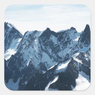 ¡Las montañas - magníficas! Pegatina Cuadrada