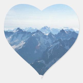 ¡Las montañas - magníficas! Pegatina En Forma De Corazón