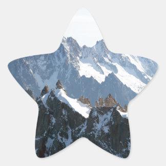 ¡Las montañas - magníficas! Pegatina En Forma De Estrella