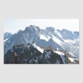 ¡Las montañas - magníficas! Pegatina Rectangular