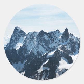 ¡Las montañas - magníficas! Pegatina Redonda