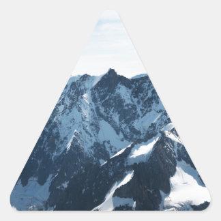 ¡Las montañas - magníficas! Pegatina Triangular