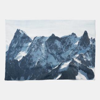¡Las montañas - magníficas! Toallas De Cocina