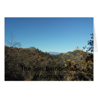 Las montañas Notecards de San Bernardino Tarjeta
