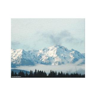 Las montañas olímpicas impresiones en lona