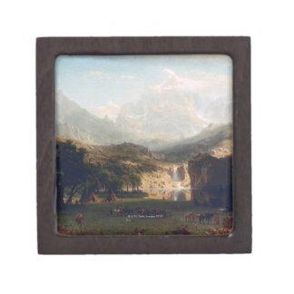 Las montañas rocosas cajas de recuerdo de calidad