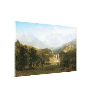 Las montañas rocosas el pico del Lander 1863 Impresion De Lienzo