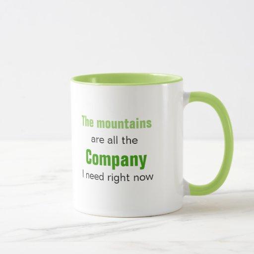 Las montañas son compañía