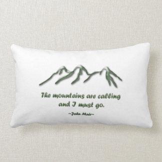 Las montañas son llamada/los mtns inclinados nieve cojín