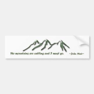 Las montañas son llamada/los mtns inclinados nieve pegatina para auto