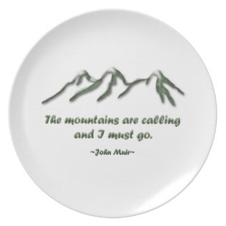 Las montañas son llamada/los mtns inclinados nieve platos para fiestas